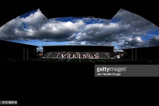 General stadium view ahead of the First Utility Super League match between Widnes Vikings and Leeds Rhinos at Select Security Stadium on February 14,...