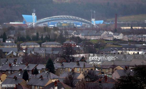 General stadium view ahead of the Premier League match between Huddersfield Town and Burnley at John Smith's Stadium on December 30 2017 in...