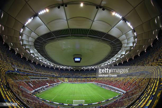 General stadium view ahead of the UEFA Champions League Group E Match between FC Steaua Bucuresti and Chelsea at the National Arena Stadium on...