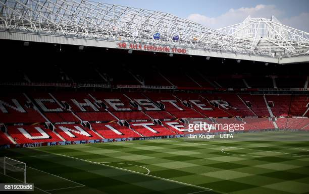 A general stadium view ahead of the Uefa Europa League semi final second leg match between Manchester United and Celta Vigo at Old Trafford on May 11...
