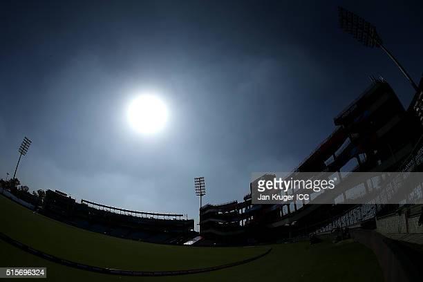 General stadium view ahead of the Women's ICC World Twenty20 India 2016 match between New Zealand and Sri Lanka at Feroz Shah Kotla Ground on March...