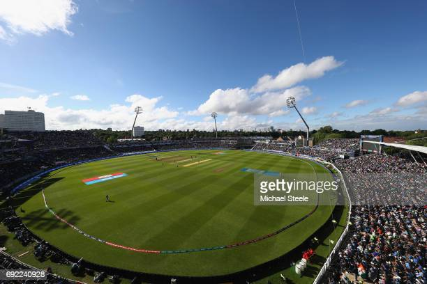 General stadium view during the ICC Champions Trophy match between India and Pakistan at Edgbaston on June 4 2017 in Birmingham England