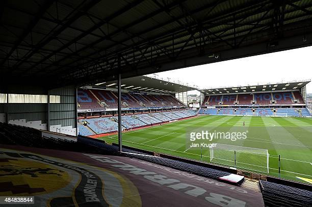 General stadium view during the Sky Bet Championship match between Burnley and Brentford at Turf Moor on August 22 2015 in Burnley England