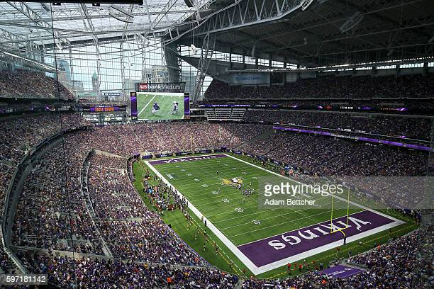 General stadium view of the Minnesota Vikings against the San Diego Chargers at US Bank Stadium on August 28 2016 in Minneapolis Minnesota
