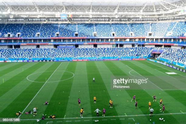 General stadium view pictured during a training session of the National Soccer Team of Belgium prior to the FIFA 2018 World Cup Russia group G phase...