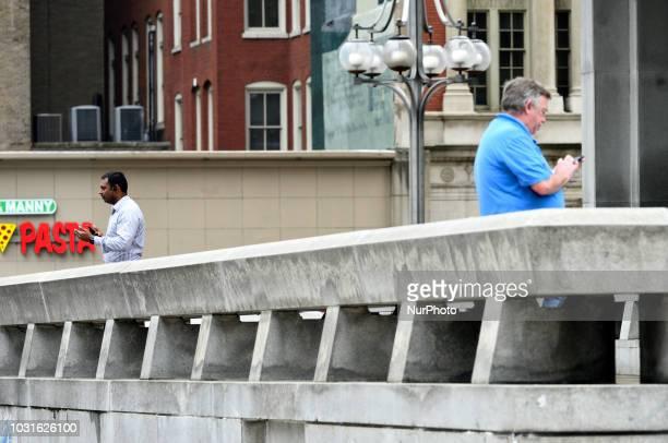 General street scene in Center City Philadelphia PA on September 11 2018