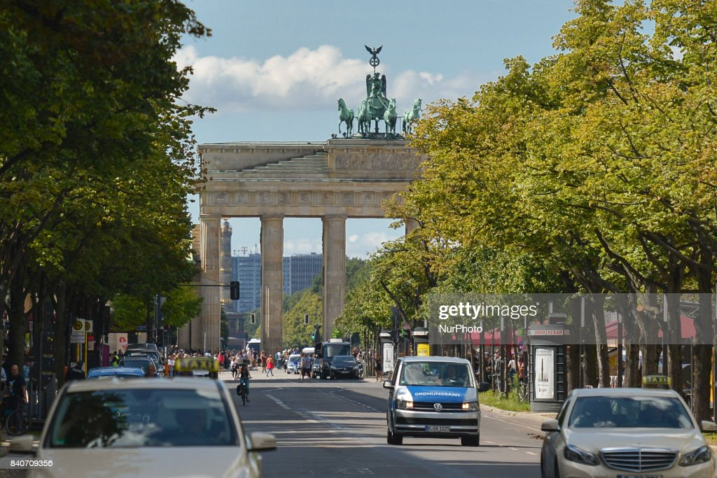 A general street view of the Brandenburg Gate monument in Berlin. On Tuesday, August 29, 2017, in Berlin, Germany.