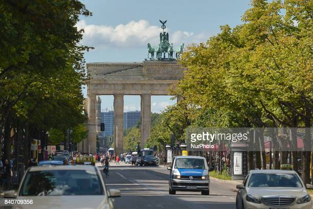 A general street view of the Brandenburg Gate monument in Berlin On Tuesday August 29 in Berlin Germany