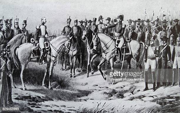 General Sucre after the victory at the Battle of Ayacucho during the Peruvian War of Independence It was the battle that secured the independence of...