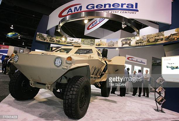 AM General the makers of the US Army's Humvee show off the new Humvee Cobra which has the new Vshaped hull to better protect against roadside bombs...