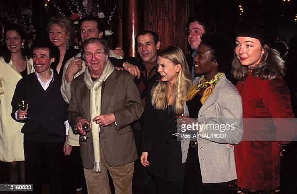 General theatre Oscar in France in January 1996 Michel Cremades Pierre Mondy Roland Giraud Maaike Jansen Geraldine Jansen