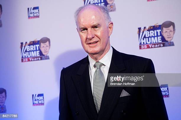 General Thomas McInerney poses on the red carpet upon arrival at a salute to FOX News Channel's Brit Hume on January 8 2009 in Washington DC Hume was...