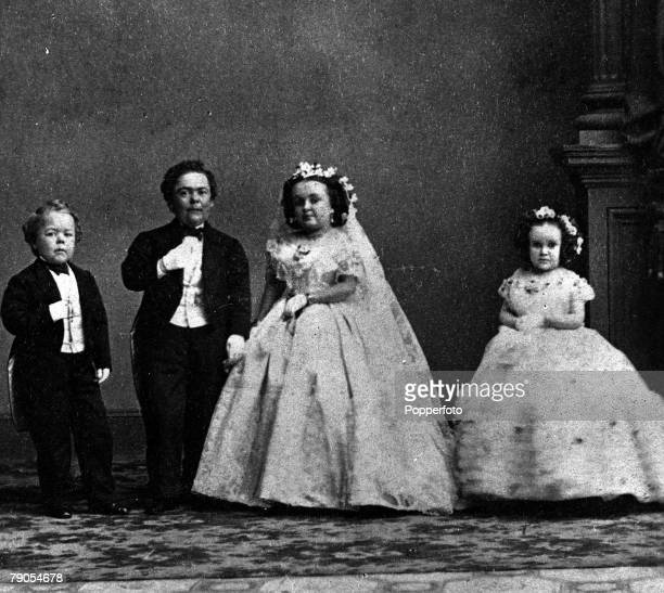 General Tom Thumb alias Charles Sherwood Stratton US midget showmanand his wife in 1869