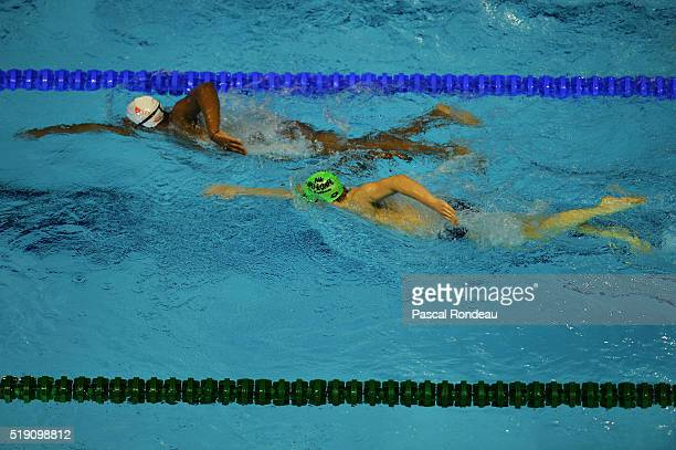 General training illustration during the French Swimming Championships France on April 1 2016 in Montpellier France