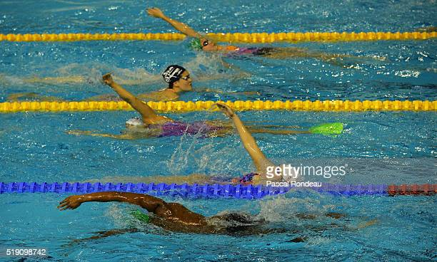 General training illustration during the French Swimming Championships on April 1 2016 in Montpellier France