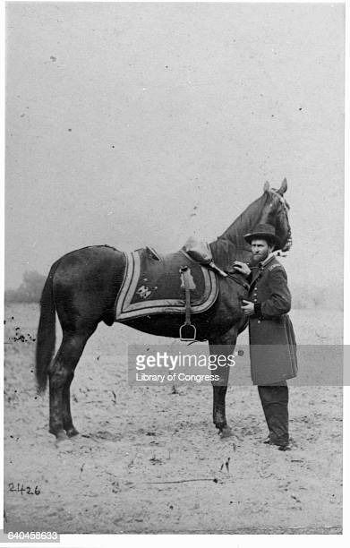 General Ulysses S Grant Standing with Horse