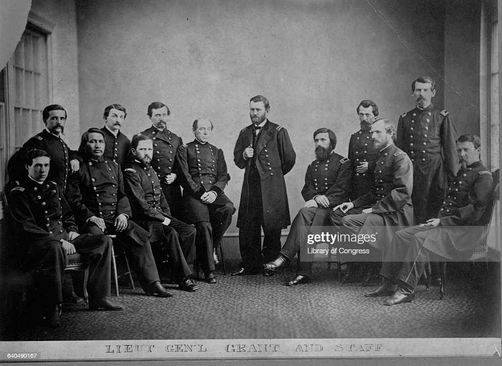 General Ulysses S. Grant with Chiefs of Staff : News Photo