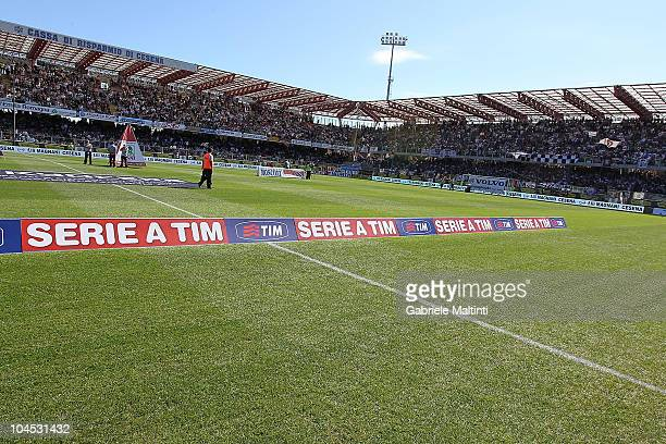 General veiw during the Serie A match between Cesena and Napoli at Dino Manuzzi Stadium on September 26 2010 in Cesena Italy