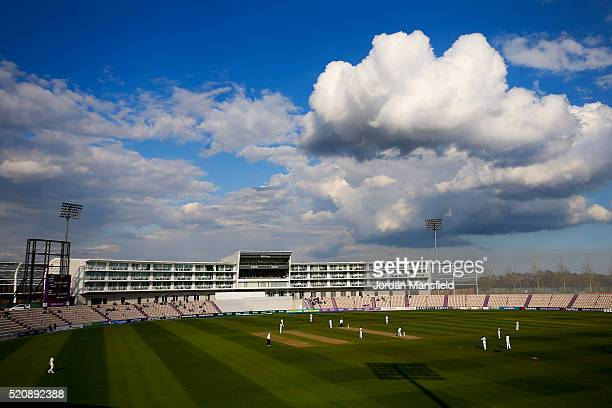 A general veiw of play during day four of the Specsavers County Championship Division One match between Hampshire and Warwickshire at the Ageas Bowl...