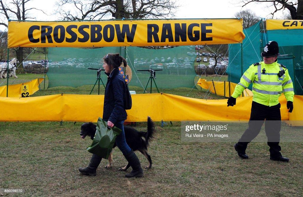 A general veiw of the crossbow range at the BASC GamekeepersÕ