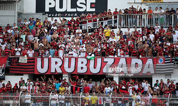 A general vie from fans of Flamengo during the match between Ponte Preta and Flamengo for the Brazilian Series A 2013 at Moisés Lucarelli stadium on...