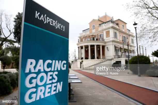 A general vie of Racing Goes Green an event organized by Kaspersky Lab Official Sponsor of DS Virgin Racing Team to celebrate the Formula E race in...