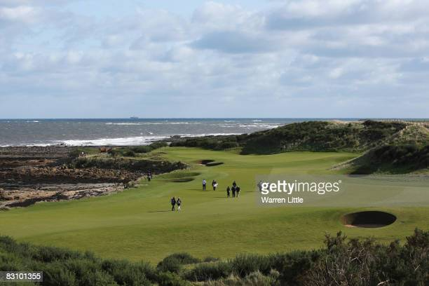 General view across the 12th fairway during the second round of The Alfred Dunhill Links Championship at Kingsbarns Golf Links on October 3 2008 in...