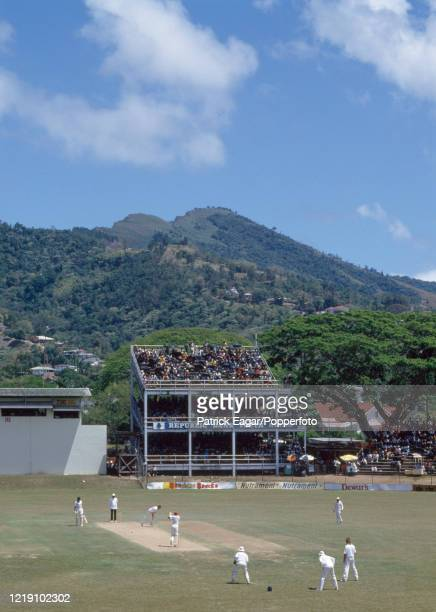 General view across the ground as West Indies bat during the 2nd Test match between West Indies and England at Queen's Park Oval, Port of Spain,...