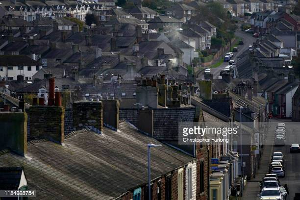 General view across the rooftops of Workington town after a political think tank declared that politicians need to win the vote of 'Workington Man'...