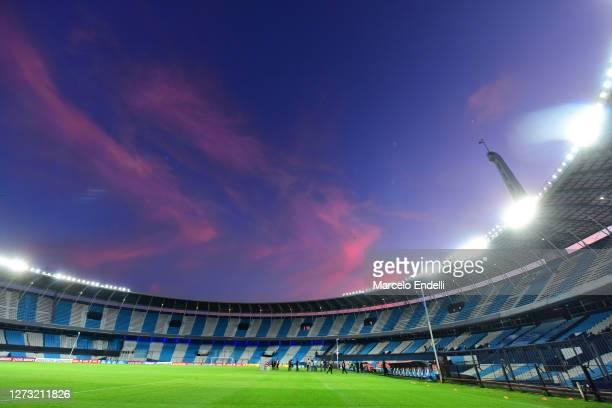 General view after a group F match of Copa CONMEBOL Libertadores 2020 between Racing and Nacional at Juan Domingo Peron Stadium on September 17 2020...