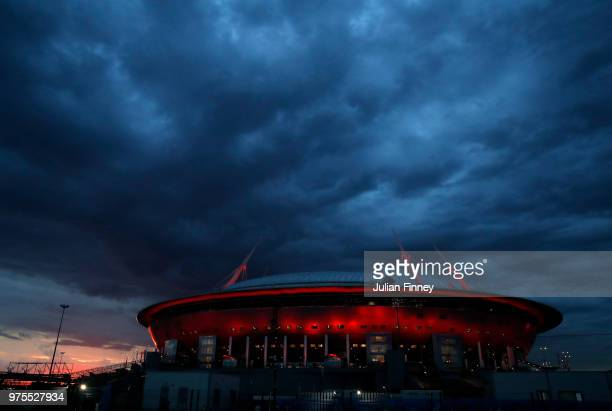 A general view after the 2018 FIFA World Cup Russia group B match between Morocco and Iran at Saint Petersburg Stadium on June 15 2018 in Saint...
