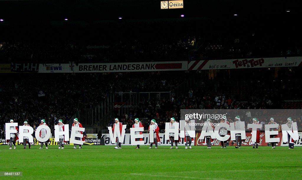 Frohe Weihnachten Werder Bremen.A General View After The Bundesliga Match Between Werder