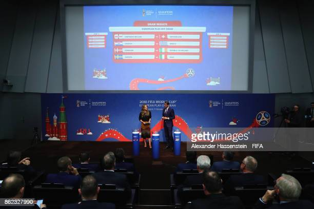 General view after the Official Draw for the 2018 FIFA World Cup European Play-Off at the FIFA headquaters on October 17, 2017 in Zurich, Switzerland.