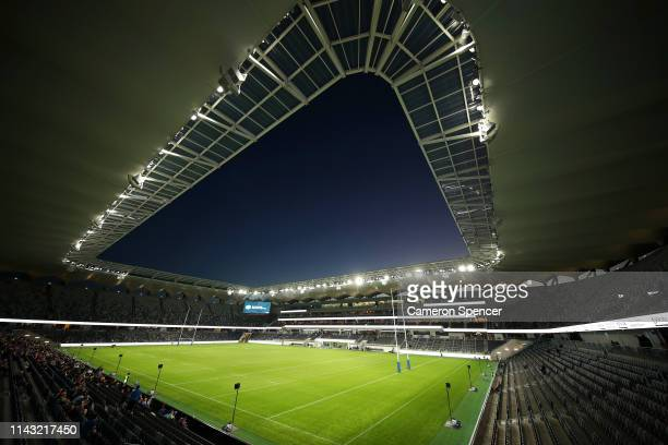 A general view ahead of a Parramatta Eels NRL training and media session at Bankwest Stadium on April 17 2019 in Sydney Australia