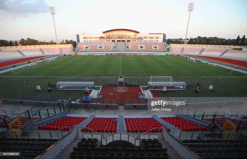A general view ahead of an England press conference on the eve of the World Cup qualifying match against Malta at Ta'Qali National Stadium on August 31, 2017 in Valletta, Malta.