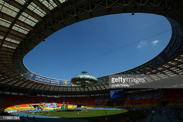 A general view ahead of the 14th IAAF World Athletics Championships Moscow 2013 at the Luzhniki Sports Complex on August 8 2013 in Moscow Russia