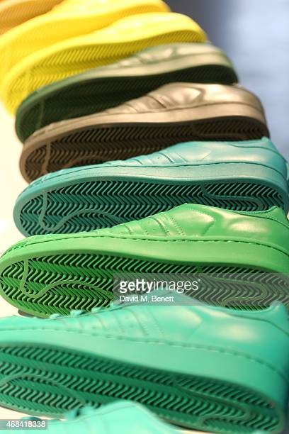 A general view ahead of the adidas Originals Superstar Supercolor launch at Hackney Reservoir on April 2 2015 in London England