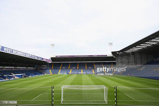 A general view ahead of the Barclays Premier League match between West Bromwich Albion and Swansea City at The Hawthorns on September 01 2013 in West...
