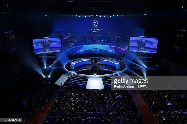A general view ahead of the Champions League Group Stage draw part of the UEFA ECF Season Kick Off 2018/19 on August 30 2018 in Monaco Monaco