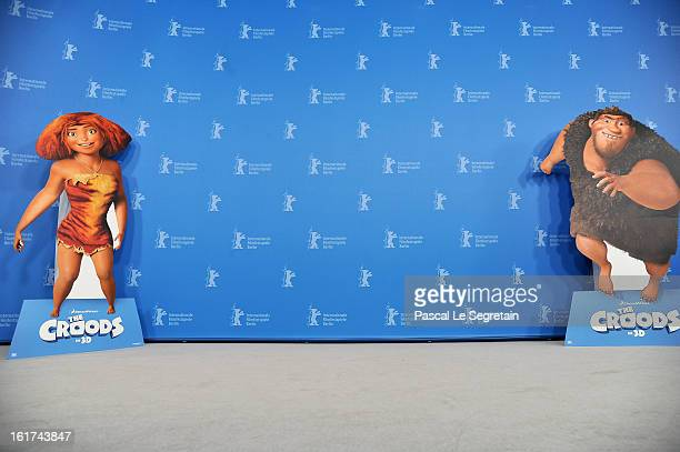 A general view ahead of 'The Croods' Photocall during the 63rd Berlinale International Film Festival at the Grand Hyatt Hotel on February 15 2013 in...