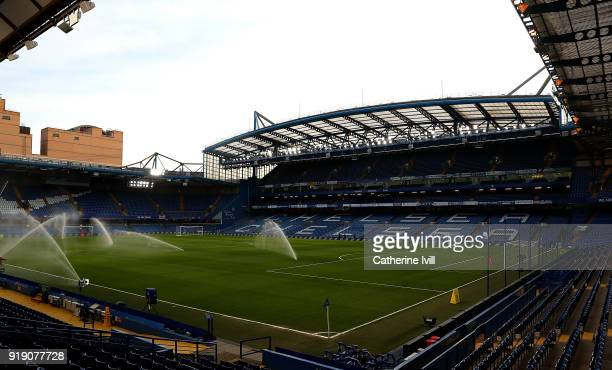 A general view ahead of The Emirates FA Cup Fifth Round match between Chelsea and Hull City at Stamford Bridge on February 16 2018 in London England