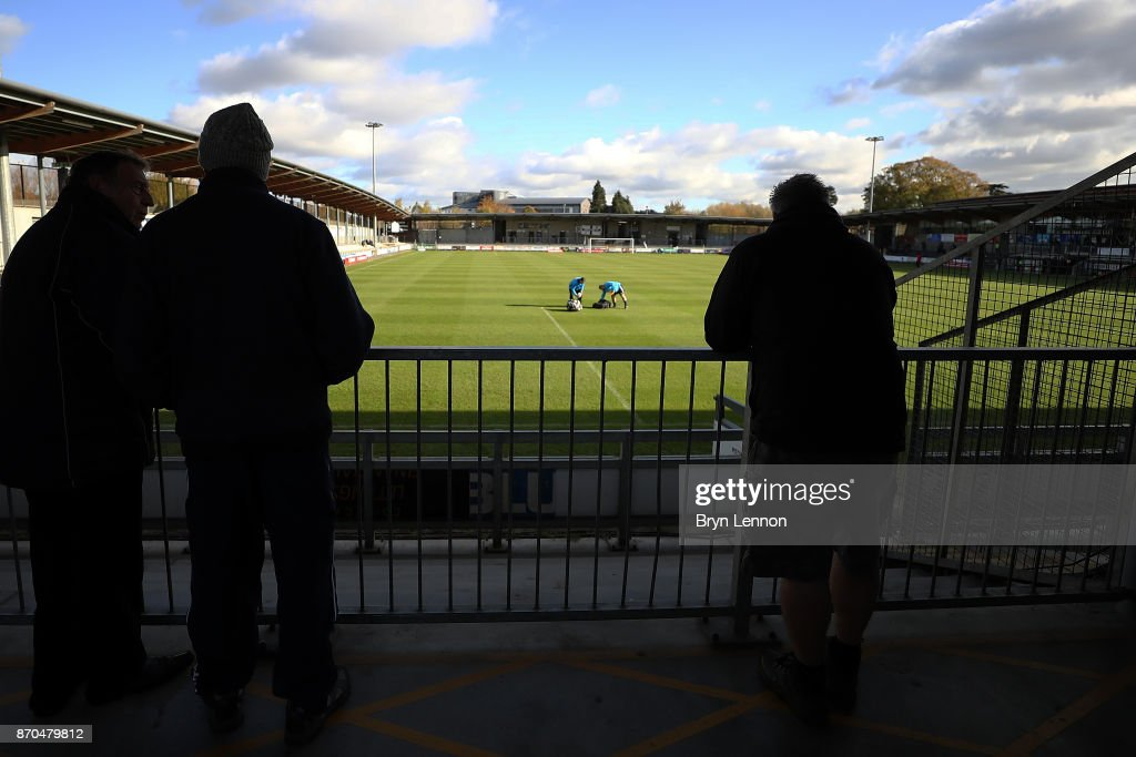 A general view ahead of The Emirates FA Cup first round match between Dartford and Swindon Town at the Princes Park Stadium on November 5, 2017 in Dartford, England.