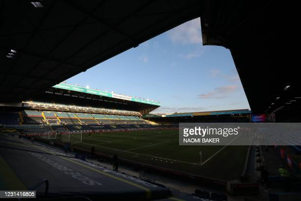 General view ahead of the English Premier League football match between Leeds United and Aston Villa at Elland Road in Leeds, northern England on...