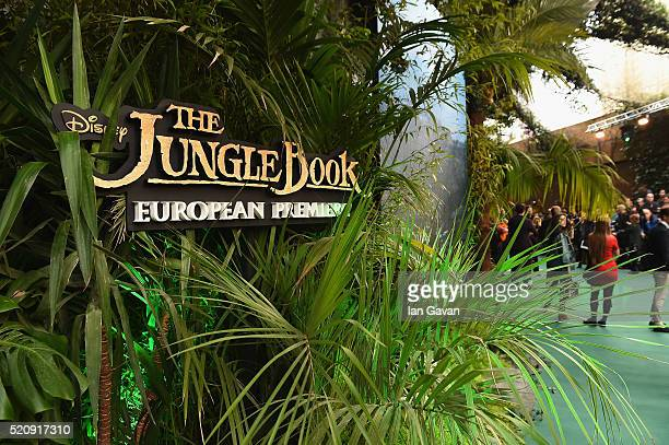 A general view ahead of the European Premiere of 'The Jungle Book' at BFI IMAX on April 13 2016 in London England