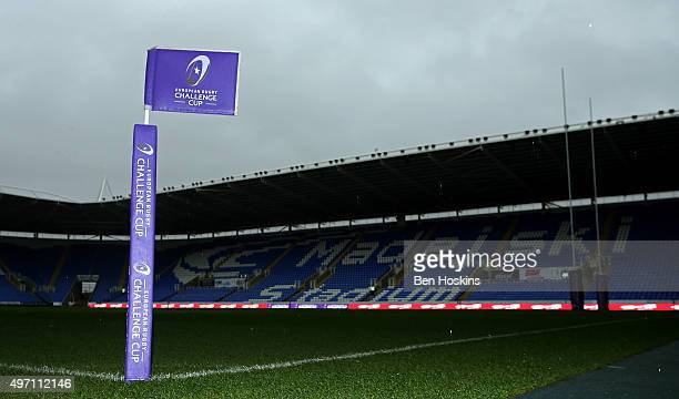 A general view ahead of the European Rugby Challenge Cup match between London Irish an Agen at Madejski Stadium on November 14 2015 in Reading England