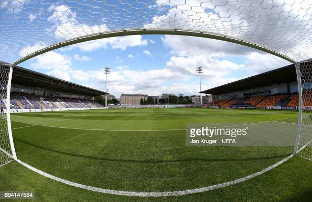 A general view ahead of the FIFA 2018 World Cup Qualifier between Latvia and Portugal at Skonto Stadium on June 9 2017 in Riga Latvia