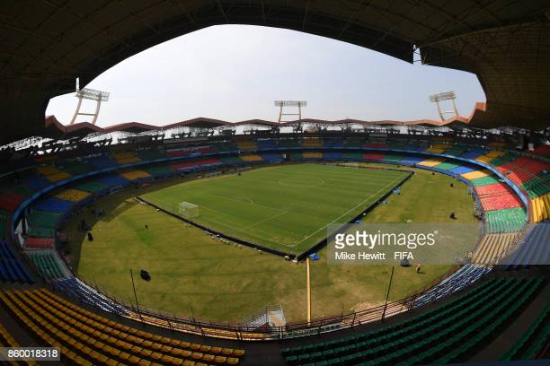 A general view ahead of the FIFA U17 World Cup India 2017 group D match between Spain and Niger of the Jawaharlal Nehru International Stadium on...