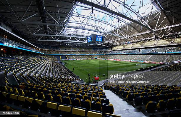 General view ahead of the FIFA World Cup Qualifier between Sweden and Netherlands at Friends arena on September 6 2016 in Solna Sweden