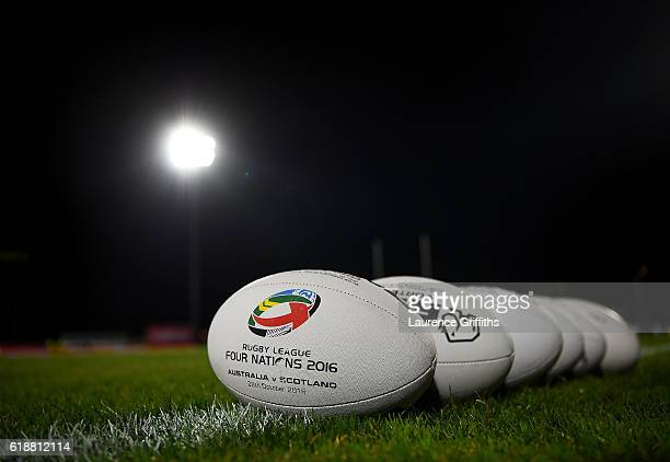 A general view ahead of the Four Nations match between the Australian Kangaroos and Scotland at KCOM Lightstream Stadium on October 28 2016 in Hull...