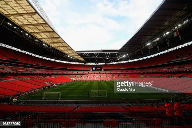 A general view ahead of the friendly match between England and Italy at Wembley Stadium on March 27 2018 in London England